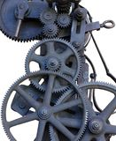 Gears old machine part objects isolated. Industries theme royalty free stock photo