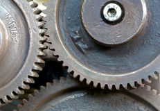 Gears of an old machine Royalty Free Stock Photos