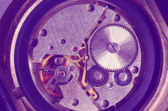 Gears old mechanical watches. Royalty Free Stock Image