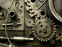 Gears from old mechanism Stock Photos