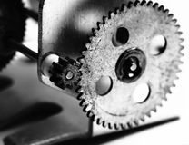 Gears of old mechanism Stock Images