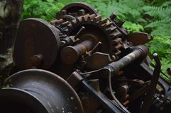 Gears. Old Mining machinery in OR Royalty Free Stock Photography