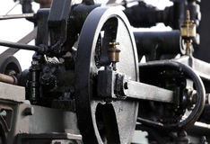 Gears of an old steam locomotive Royalty Free Stock Photography