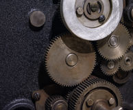 The gears of a old and vintage machine Royalty Free Stock Images