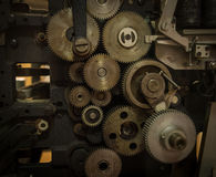 The gears of a old and vintage machine Stock Photography