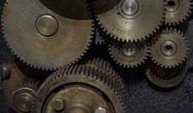 The gears of a old and vintage machine Royalty Free Stock Photography