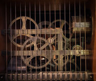 The gears of a old and vintage machine Stock Photo