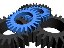 Gears over white Stock Photo