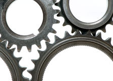 Gears over white Royalty Free Stock Image