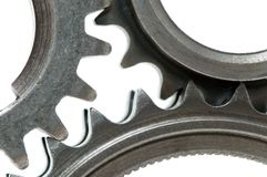 Gears over white royalty free stock images