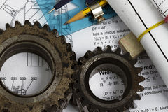 Gears or part of engine Stock Images