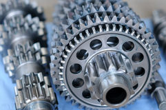Gears. Partial view of gears in a machine Royalty Free Stock Image