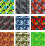 Gears pattern pack Royalty Free Stock Photos