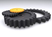Gears in perspective Stock Image