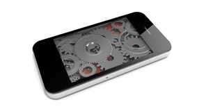Gears phone Royalty Free Stock Photos