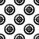 Gears and pinions seamless pattern Stock Images