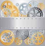 Gears plate screws Royalty Free Stock Photography