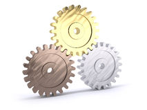 Gears poduim Royalty Free Stock Image