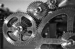 Gears. From a printing machine in a museum Royalty Free Stock Photography