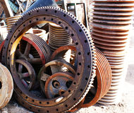 Gears and pulleys Stock Image