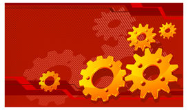 Gears in red Royalty Free Stock Image