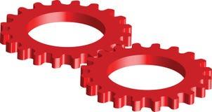gears red Royaltyfria Bilder