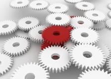 gears red vektor illustrationer