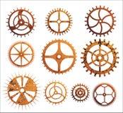 gears rostigt stock illustrationer