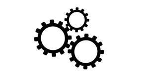 Gears rotate idea Mechanics seamless loopable FullHD 1080p 2D flat animation stock footage