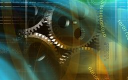 Gears rotating Royalty Free Stock Photography