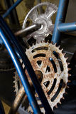 Rusted Old Gears Stock Image