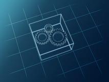 gears schemat vektor illustrationer