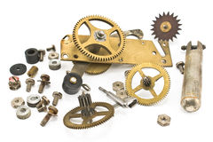 Gears and screw heads Stock Photography