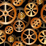 Gears seamless 01. Abstract mechanical background, seamless pattern vector illustration Royalty Free Stock Images