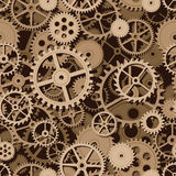Gears seamless background Stock Photography