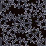 Gears seamless background pattern Stock Photo