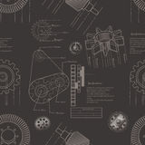 Gears seamless pattern Stock Image
