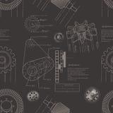 Gears seamless pattern Stock Image