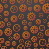 Gears seamless pattern Royalty Free Stock Photos