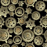 Gears seamless pattern Royalty Free Stock Photo