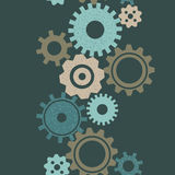 Gears seamless vector background Stock Photo