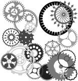 Gears. A selection of industrial gears, cogs, wheels, and sprockets Stock Photos