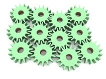 Gears set Stock Photos