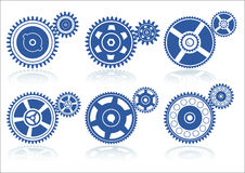 Gears set A Royalty Free Stock Image