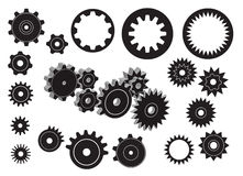 Gears. A set of  gears Royalty Free Stock Photography