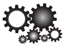Gears. Set of mechanical gears for your design stock illustration