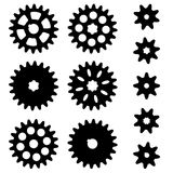 Gears. Set on a white background. Stock Photos