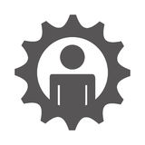 gears settings flat icon Stock Photo