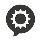 Gears settings flat icon Stock Photography