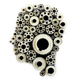 Gears in the shape of a human head Royalty Free Stock Image